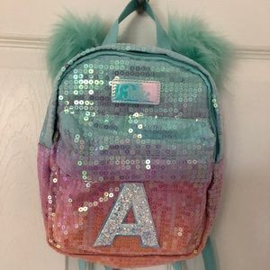 4920a6425e4e Justice Accessories - JUSTICE Ombré Sequin - Initial A -Mini Backpack